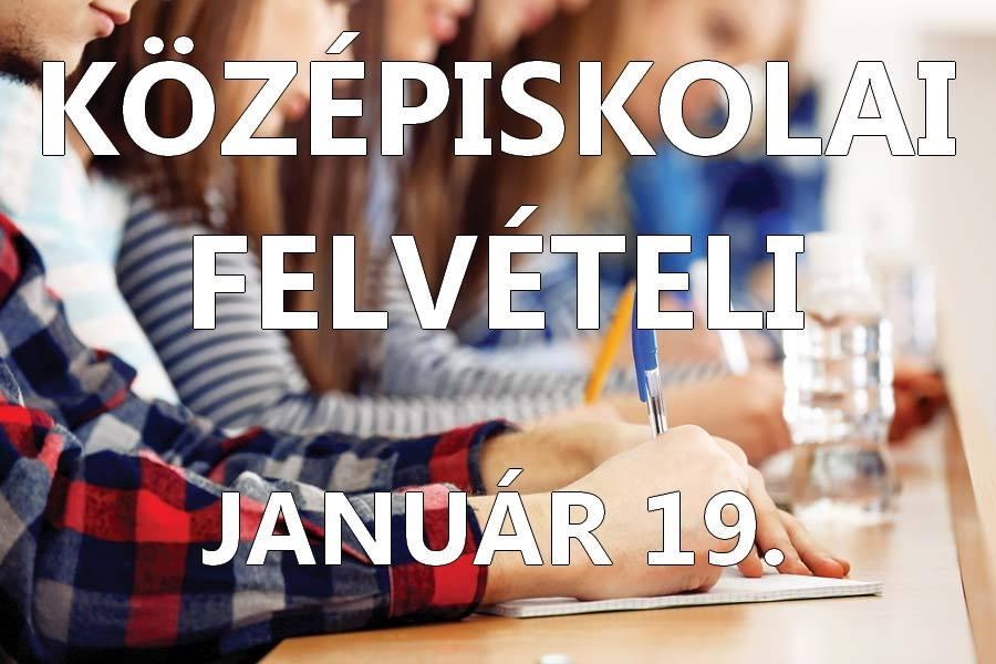Középiskolai felvételi 2019