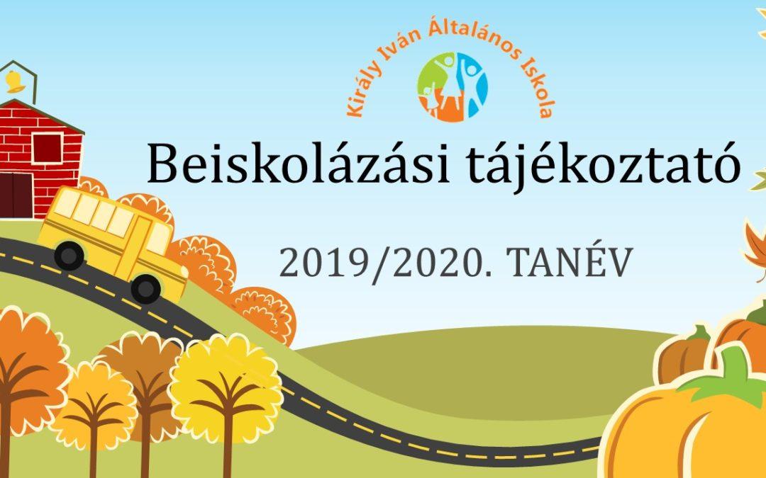 Beiskolázási tájékoztató 2019/2020. tanévre